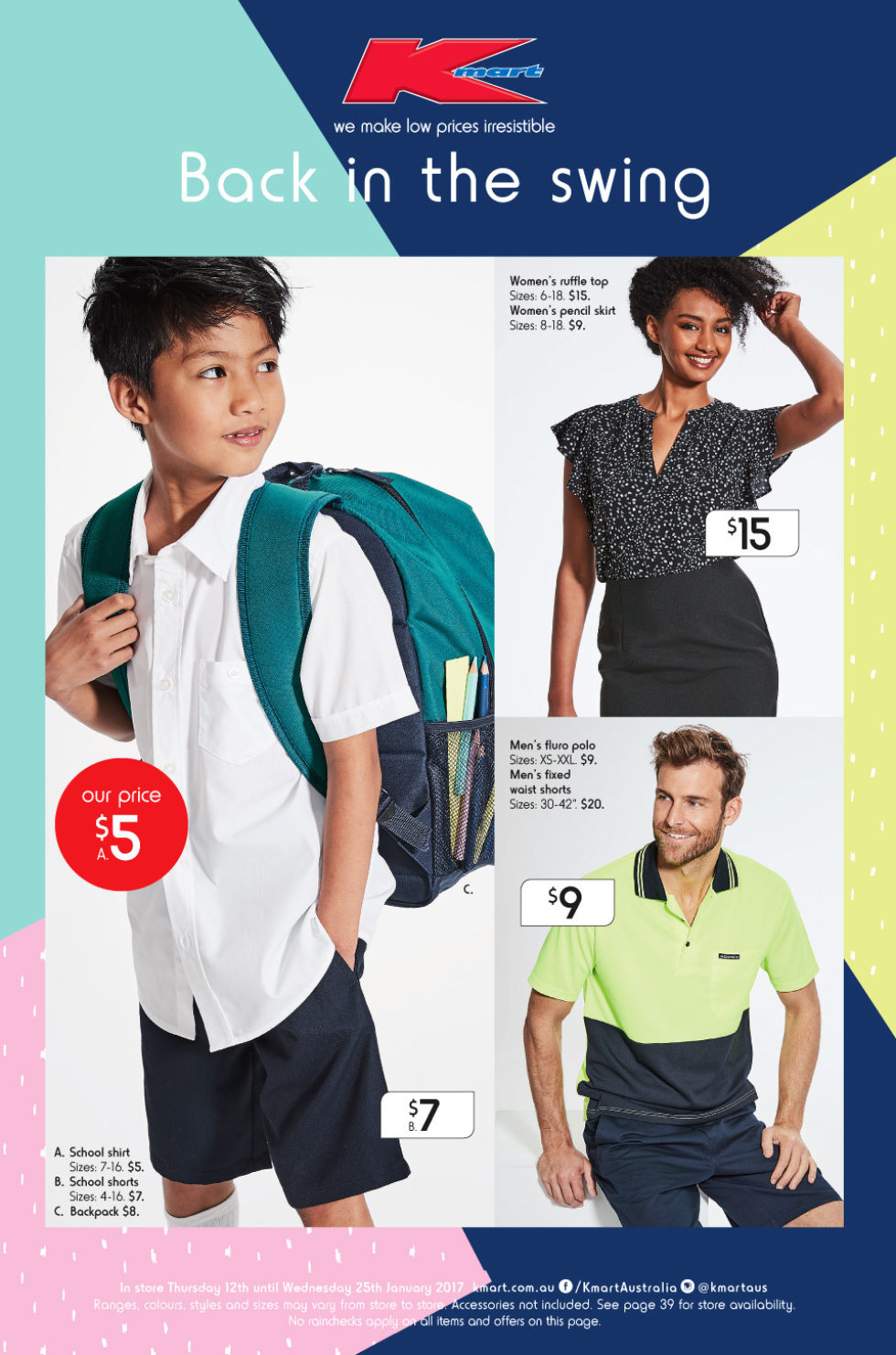 16c07708f Kmart Back in the Swing Catalogue 12 January - 25 January - Bargains AU