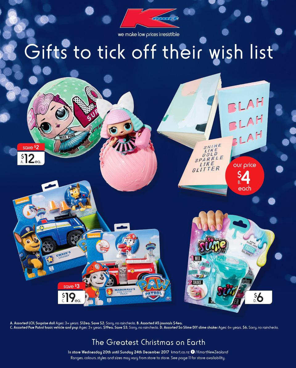 Kmart Catalogue Christmas 20 - 24 December 2017 NZ - Bargains AU