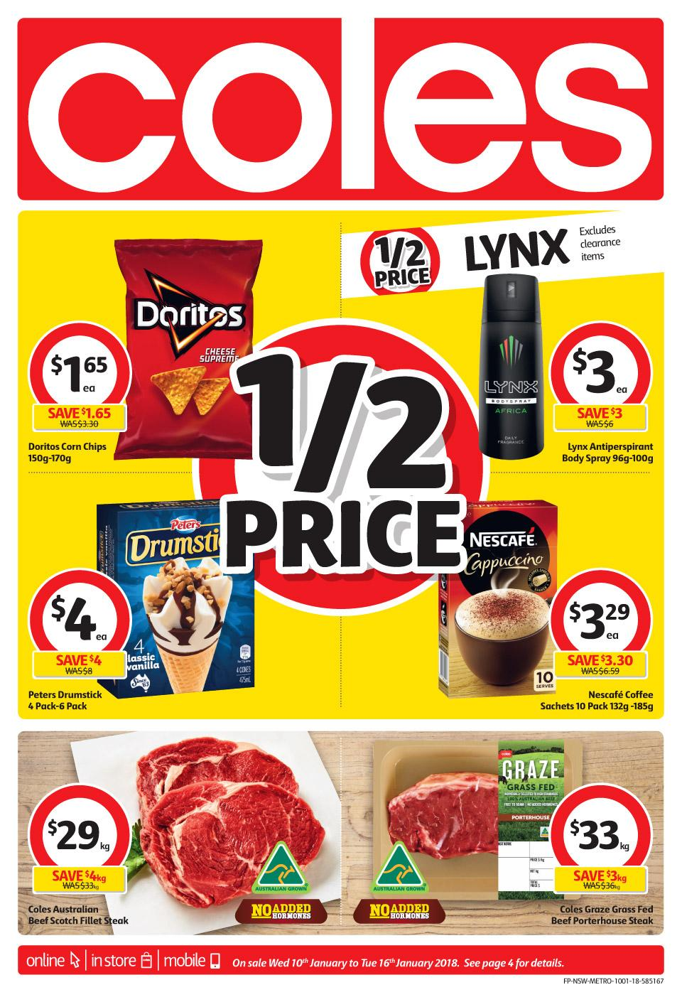Coles Catalogue 10 - 16 January 2018