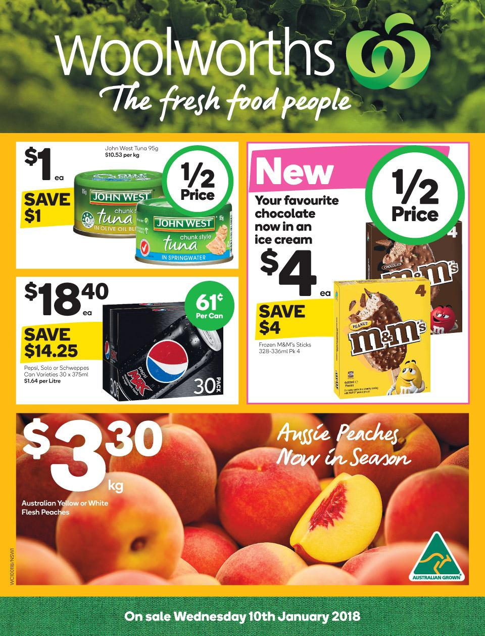 Woolworths Catalogue 10 - 16 January 2018