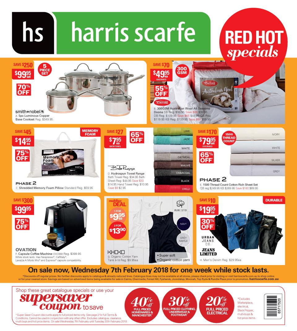 Harris Scarfe Catalogue 7 - 13 February 2018