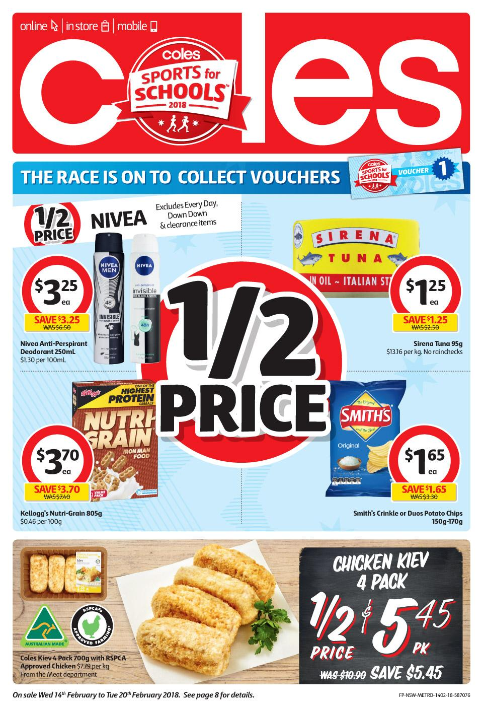 Coles Catalogue 14 - 20 February 2018