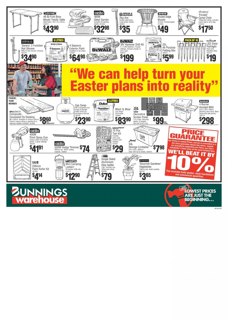 Bunnings Catalogue April 2018 Easter Sale