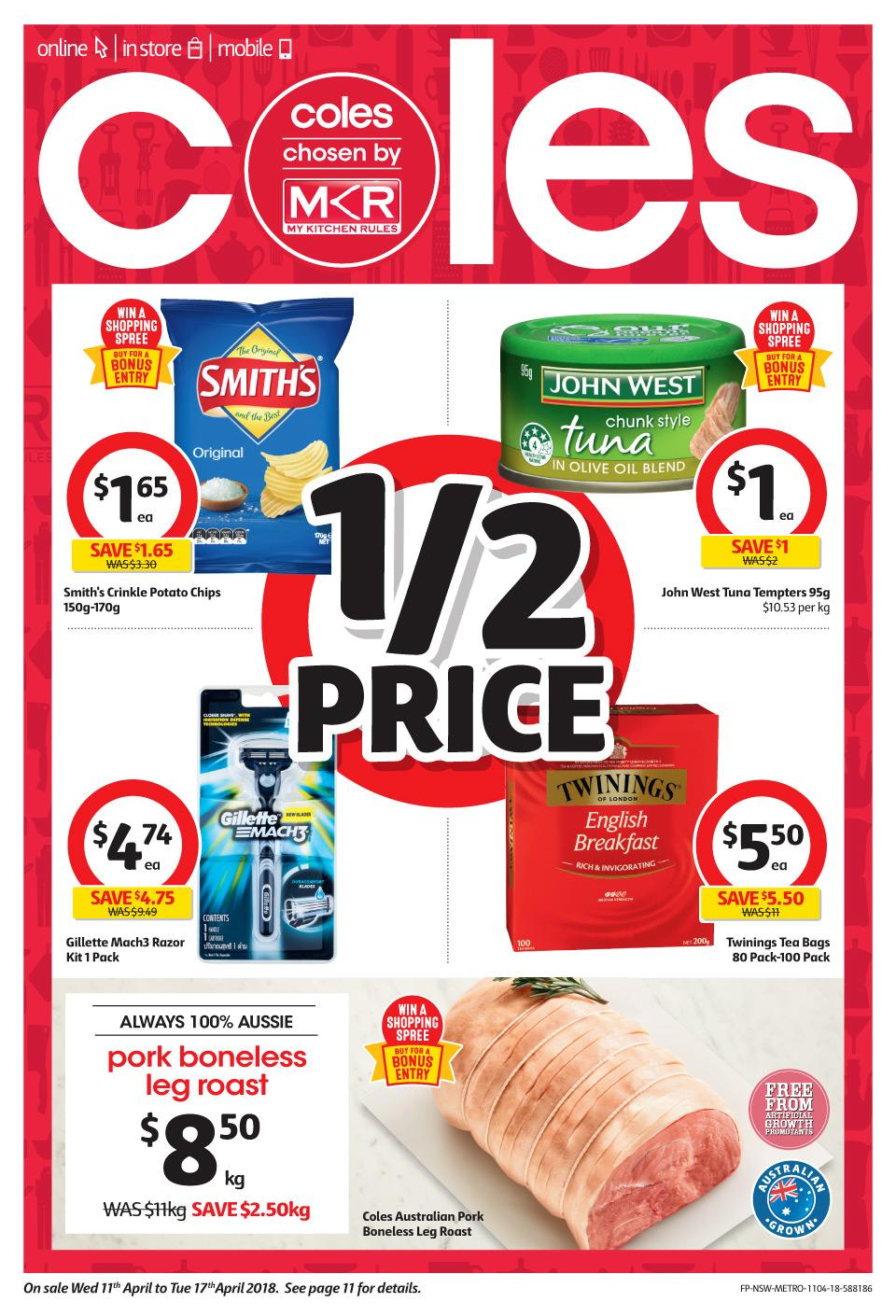 Coles Catalogue 11 - 17 April 2018