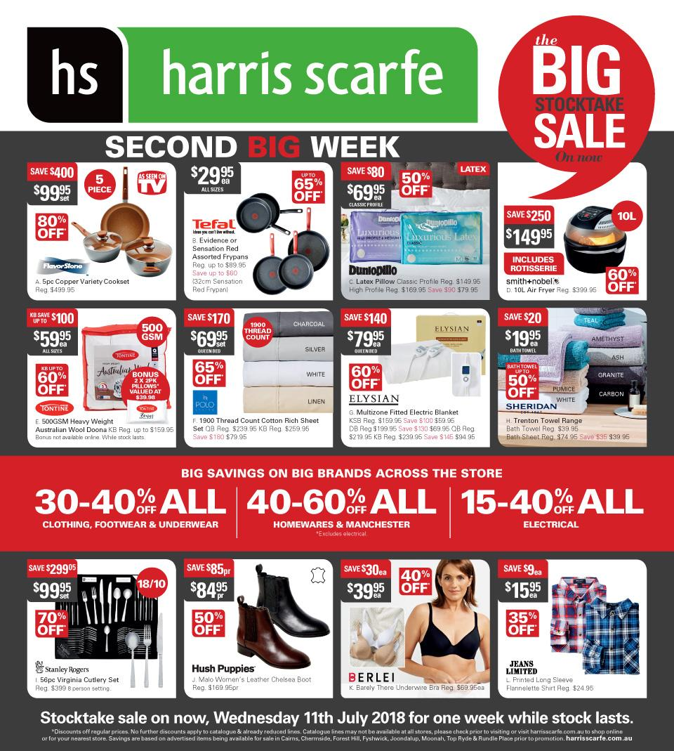 Harris Scarfe Catalogue 11 - 17 July 2018