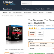 The Sopranos: The Complete Series (Blu-ray + Digital HD) $69.99 (RRP $164) Deal Image