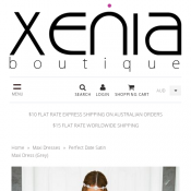 Satin Maxi Dress for $45 was $65 @ Xenia Boutique Deal Image
