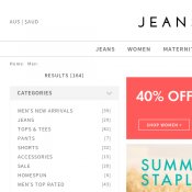 Jeanwest 40% OFF Storewide In store and Online Deal Image