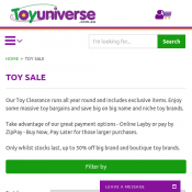 Toy Clearance Up To 50% Off @ ToyUniverse Deal Image