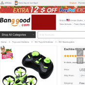 Eachine E010 Mini RC Quadcopter 2.4G 4CH 6 Axis with Controller $21 Deal Image