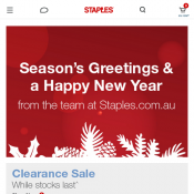 Get $10 OFF Every $100 With Code @Staples Deal Image