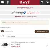 Rays Outdoors C&ing Tents Starting from $19.99  sc 1 st  Bargains AU & Rays Outdoors Camping Tents Starting from $19.99 - Bargains AU