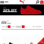 Puma Up to  50% OFF + 15% OFF Your First Order Deal Image