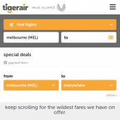 Tiger Air Melbourne to Hobart $59, to Adelaide $75, to Sydney $89 Deal Image
