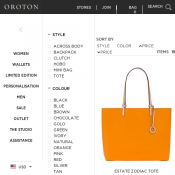 Oroton Boxing Day Sales All Bags are on discount clutch bag $190, weekender tote $425 Deal Image