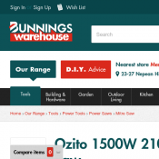Ozito 1500W 210mm Compound Mitre Saw $59 @Bunnings Deal Image