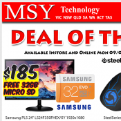 MSY Technology Deal Of The Day Gaming Mouse $60, Monitor $189 Deal Image