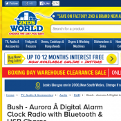 Bush - Aurora Digital Alarm Clock Radio with Bluetooth & USB Charge $85