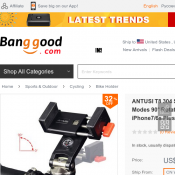 Universal Bike Phone Holder with Compass FOR $17 @ Banggood