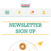 Free Doughnut When You Sign Up to Newsletter @Krispykreme