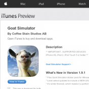 Goat Simulator IOS App $0.99 (Save 80%)