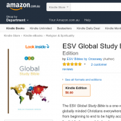 ESV Global Study Bible Kindle Edition Free Deal Image