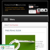 Free Ring Sizer @Tungstenworld Deal Image