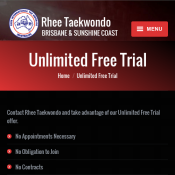 Rhee Taekwondo Brisbane and Sunshine Coast Unlimited Free Trial Deal Image