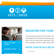 Keys 2 Drive Free Driving Lesson 60 Minutes Deal Image