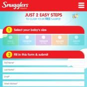 Snugglers Baby Nappies Free Sample Deal Image