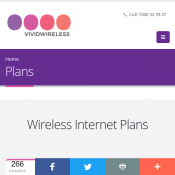 Vivid Wireless Internet Plans 10 GB $29, 40 GB $59, Unlimited $89 Deal Image