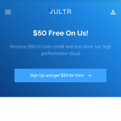 Vultr Cloud Service $50 Test Offer Deal Image