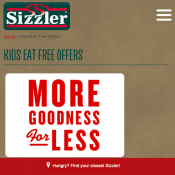 Kids Eat Free At Sizzler With Voucher  Deal Image