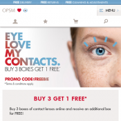 Buy 3 Contact Lenses Get 1 Free with code @OPSM Deal Image