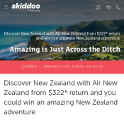 Australia to New Zealand Return Tickets from $322 with Air New Zealand Deal Image