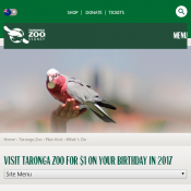 Visit Taronga Zoo for $1 On Your Birthday in 2017 Deal Image