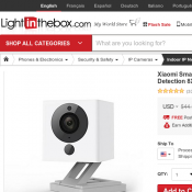 Xiaomi Smart 1080P WiFi IP Camera Motion Det. FOR $24.59 @ LITB Deal Image