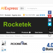 Rocketek USB Bluetooth 4.0 Adapter FOR $5.93 @ AliExpress Deal Image