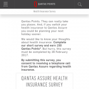 Complete The Survey to earn Free 150 Qantas Points Deal Image