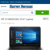 "HP 15-BA031AU 15.6"" Laptop $798 @Harvey Norman"