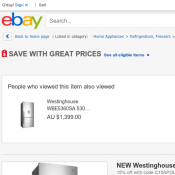 NEW Westinghouse 529L Bottom Mount Fridge $1807 (RRP $2299)