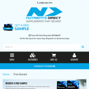 Free Hydroxyshred Protein Sample @ nutrientsdirect Deal Image