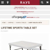 Lifetime Blow Mould Sports Table Set $129 (was $179) @Rays Deal Image