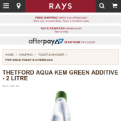 2L Thetford Aqua Kem Toilet Chemicals $26.99 (Buy 2 pay $40) @Rays Deal Image