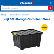 Keji 30L Storage Container FOR $3.50 @ Officeworks Deal Image