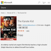 The Karate Kid FREE Movie @ Microsoft Store Deal Image