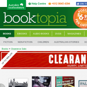 Booktopia Clereance Sale Up to 90% OFF  Deal Image