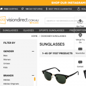 100 Best Selling Sunglasses Mostly Ray Ban On Sale @Visionsdirect Deal Image