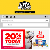 20% OFF Today Online and In Store @Mypetwarehouse  Deal Image