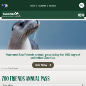 Get Annual Pass FOR $99 and Get TWO Kids Annual Passes (4-15yrs) FREE @ Taronga Zoo Deal Image